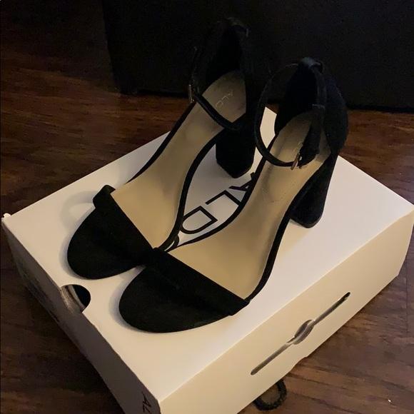 7d35c6b2400 Aldo Shoes - Aldo Black Myly Heeled Sandal - Size 8.5